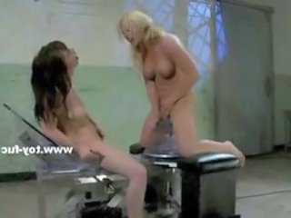 "Blonde and brunette babe using mechanic fuck machine under the shower exploding in pleasure"" target=""_blank"