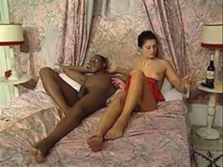 French Interracial Vintage Babe Ass European French