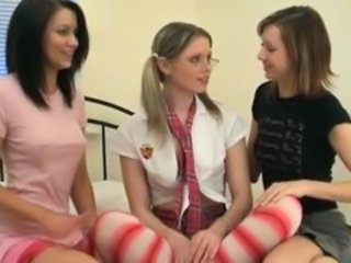 "Three coeds licking tits each other"" target=""_blank"
