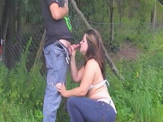 Chubby Outdoor Blowjob