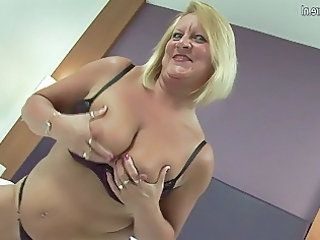 awesome british grandma loves her vibrator