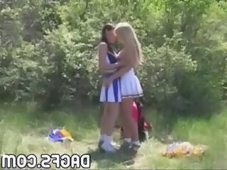 Cheerleader Kissing Lesbian Cheerleader Kissing Lesbian Kissing Teen