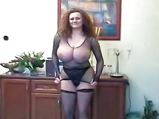Milf big tits stockings
