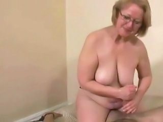 Handjob Glasses Amateur