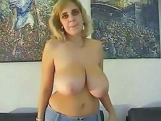 mature flahing big boobs