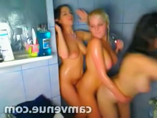 Threesome Bathroom Lesbian Bathroom Bathroom Teen College