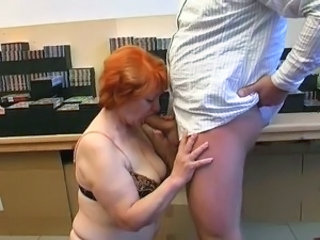 Mature Old And Young Redhead