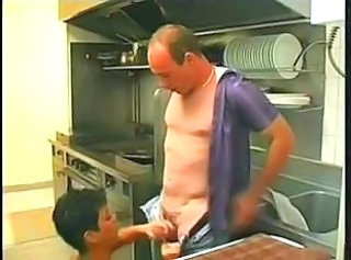 French Kitchen Blowjob Blowjob Milf European French