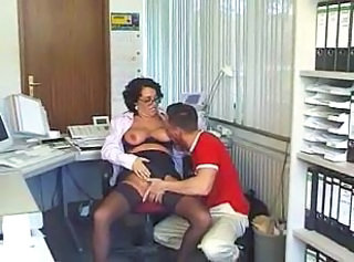 Secretary Office Stockings Glasses Mature Hardcore Mature Mature Ass