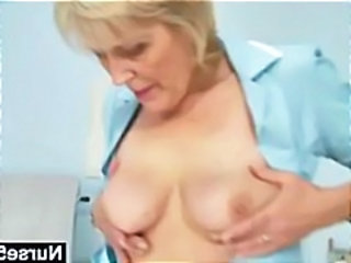 Nurse Uniform Stripper Granny Blonde Granny Pussy Gyno