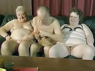 Older Threesome BBW