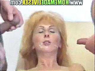 German amateur granny double penetration
