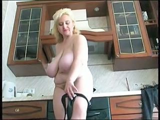 Russian Big Tits Kitchen
