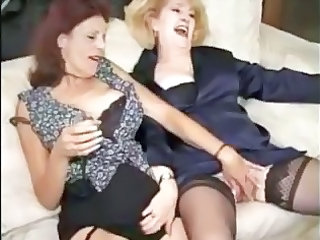 two matures into pantyhose like a gangbang