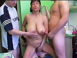 Russian Gangbang Mom
