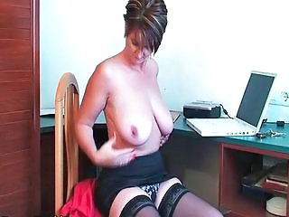 Office Secretary Natural Big Tits Big Tits Stockings Granny Stockings