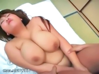 Horny busty asian chick with huge tits part4