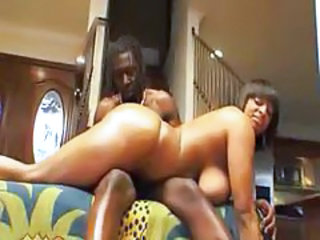 Fat black girl sits on his face lustily tubes