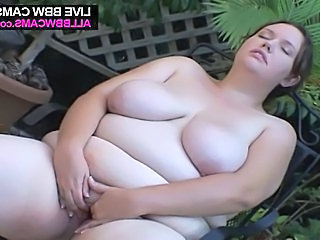 Fat bbw masturbating on the table chubby ass