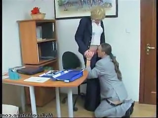 Office Clothed Secretary Clothed Fuck Cumshot Mature Granny Young