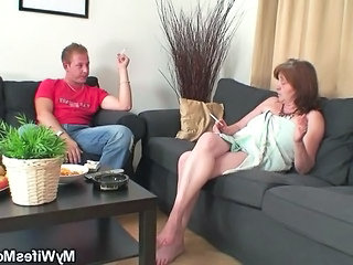 "Old bag rides young cock and his wife comes in"" class=""th-mov"
