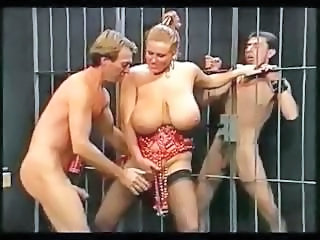 Video from: nuvid | Plump mistress with massive knockers gets pounded by the prisoners