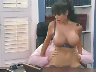 Milf big tits office