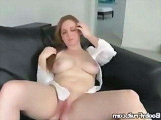 Big Titted Redhead Plays With Herself