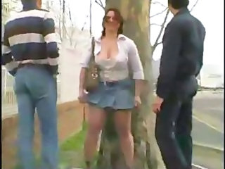 Public Threesome Outdoor