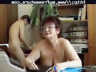 Office Glasses Secretary Glasses Mature Mature Ass