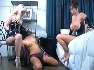 Bdsm Latex Threesome Bdsm Big Tits Lesbian Threesome