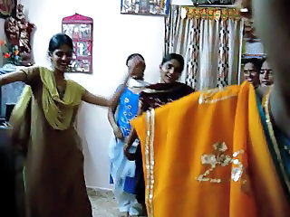 Family Dancing Indian Aunt Family