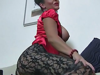 Black lace pantyhose