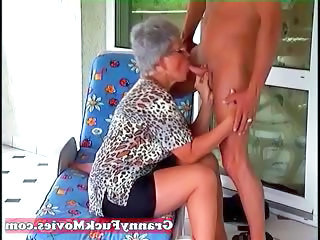 Glasses Clothed Blowjob Granny Young Old And Young