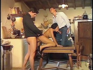 Vintage Blowjob European European French Threesome Hardcore