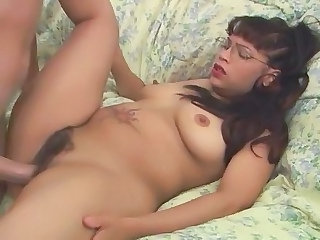 Girl In Glasses Getting Fucked Hard