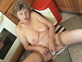 Masturbating Kitchen Toy Chubby Mature Kitchen Mature Masturbating Mature