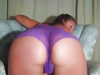 Temptress in purple lace shakes her huge butt tubes