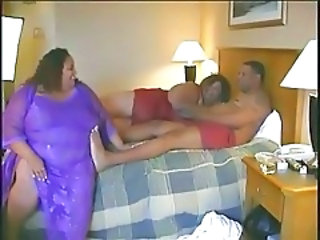 Threesome Ebony BBW