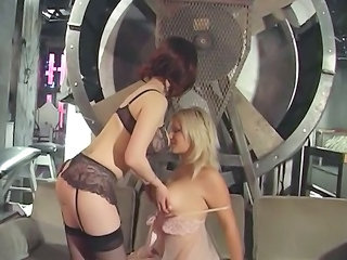 voluptuous albino obtains her tits and wet pussy