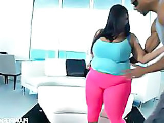 Latina bbw superstar sofia rose fucks big black cock