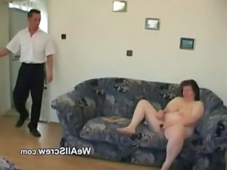 Younger guy dildos old womans ass and fuc ...