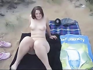 Beach Nudist Girlfriend