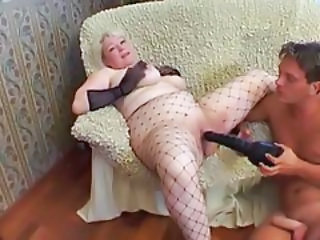 Shaved Granny Hole Fucked With A Big Dick
