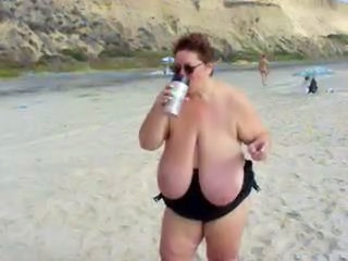 Public Beach Saggytits Bbw Mature Bbw Tits Beach Mature