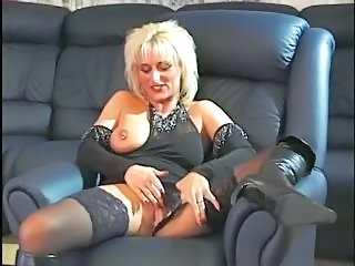 Piercing German Stockings Blonde Mature European German