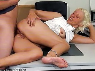 Office Secretary Hardcore Grandma Office Pussy