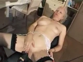 French Shaved Blonde Granny Pt3
