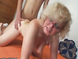 Skinny Doggystyle Glasses Caught Caught Mom Doggy Ass