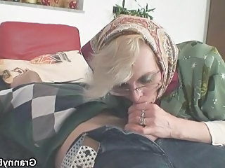 Blowjob Clothed Glasses Granny Pussy Granny Young Old And Young